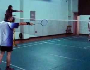 万博官方体育下载杯羽毛球赛比赛现场